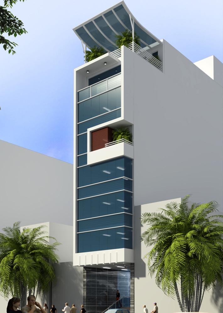Nhà phố kết hợp văn phòng 4x20m – NP25