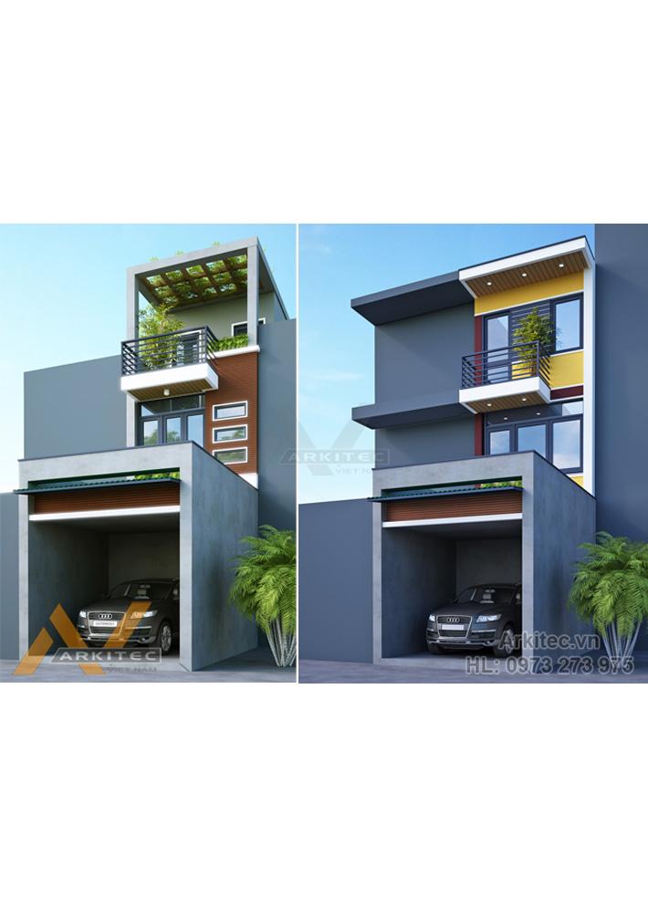 Nhà phố lệch tầng 3,3×14.5m – NP22 (Anh Hiếu – Vĩnh Phúc)
