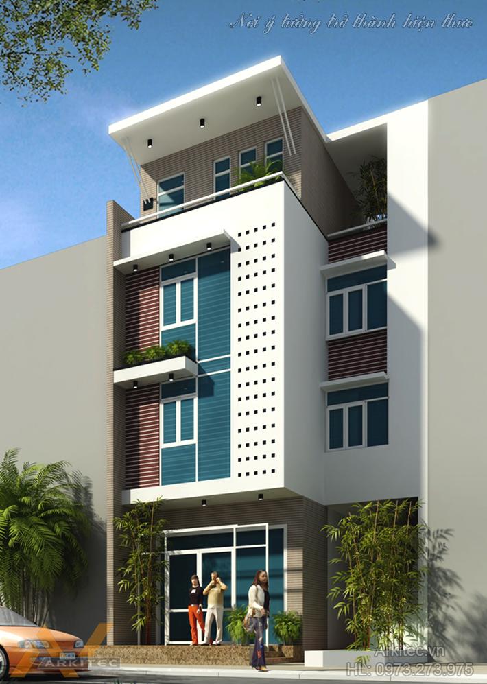 Nhà phố 4 tầng hiện đại NP24 (Anh Sơn – Hà Nội)
