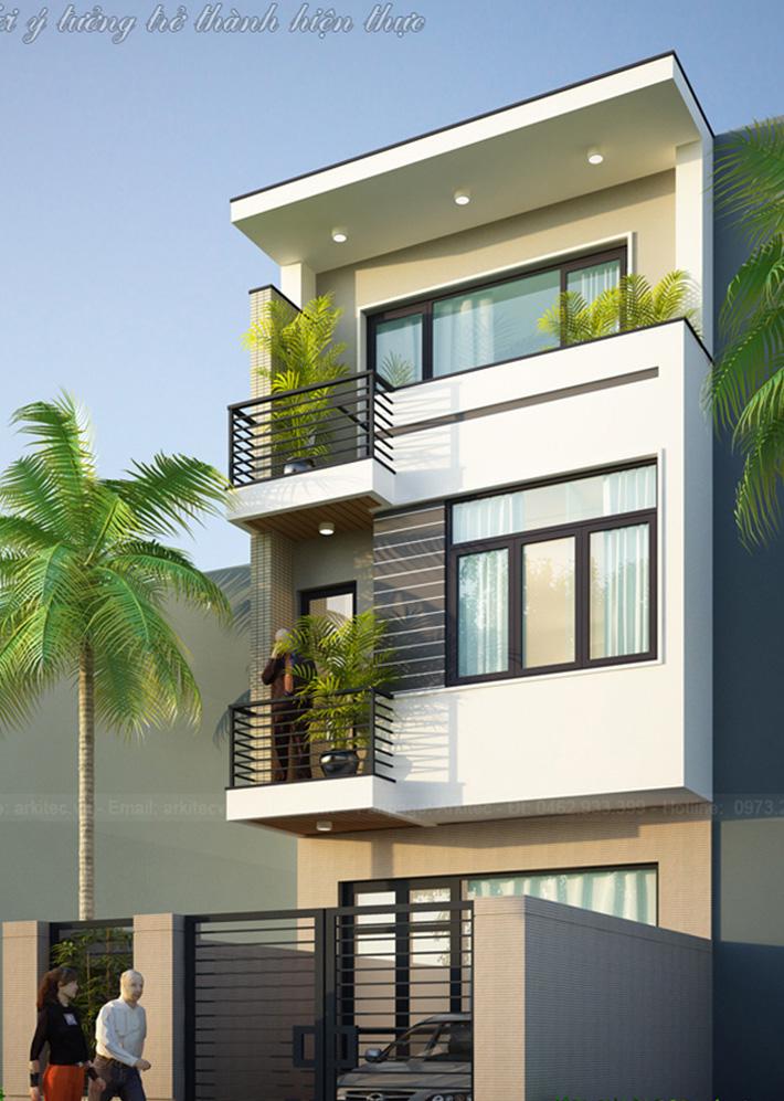 Nhà phố 3 tầng đẹp. 5x20m – NP28 (Anh Thịnh – Hà Nội)