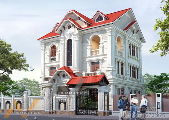 Biệt thự Vĩnh Yên 25x25m – Mr. Quyền