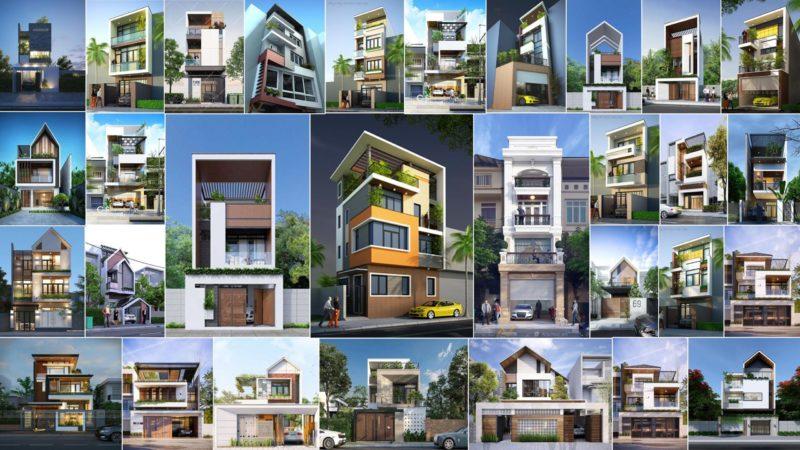 100 mẫu nhà phố đẹp